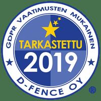 GDPR tarkastettu D-Fence 2019