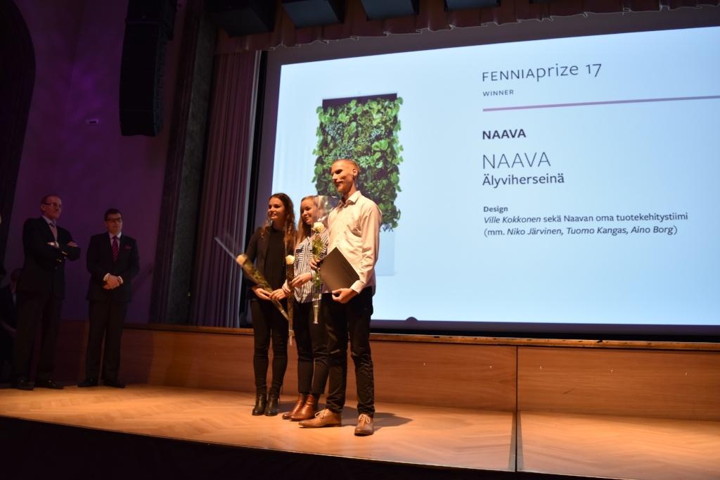 Fennia Prize palkintojenjako Naava