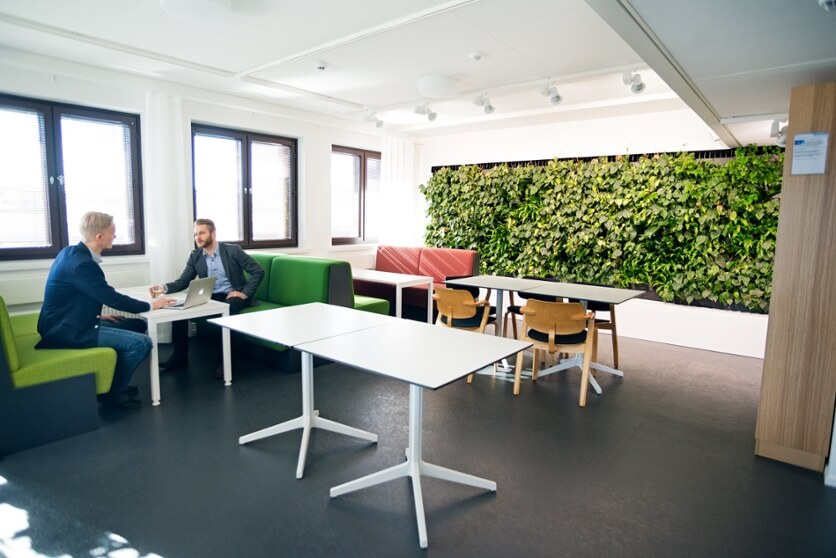 Buildings should be built to have good indoor air quality, lighting and biophilic elements.