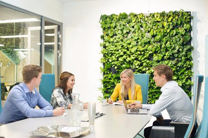 Hos Svea Ekonomi hålls luften fräsch också under långa möten.
