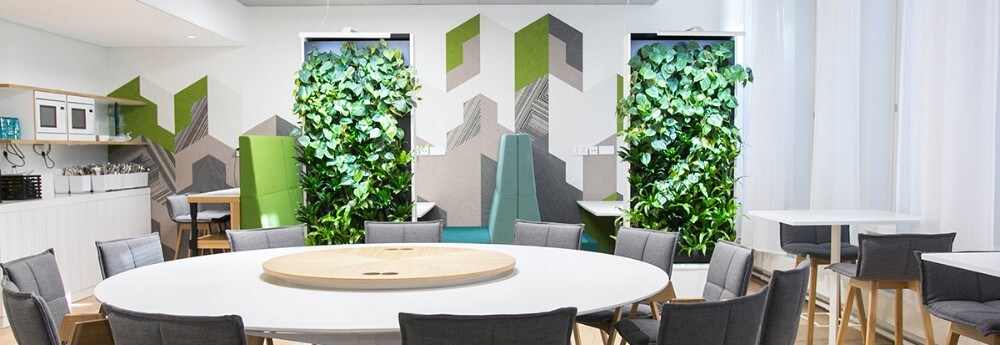 Biophilic design endorses visual contact with nature.