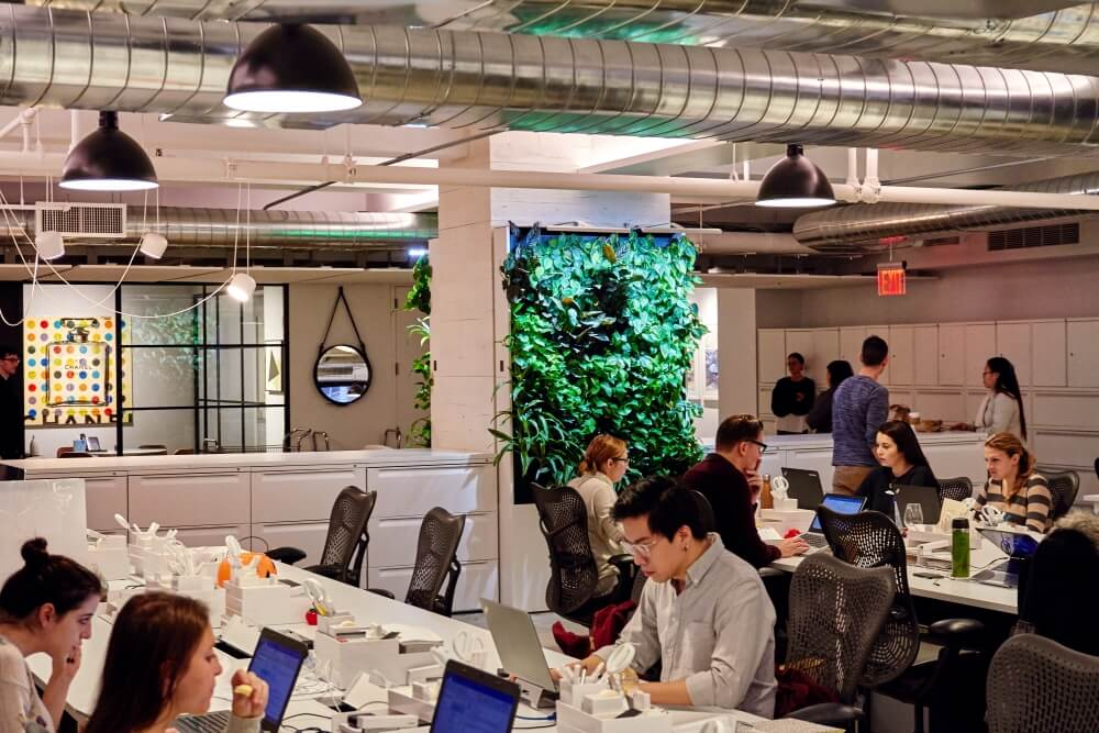 The open and interactive working environment at Nike Communications.