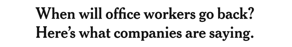 When will the office workers go back
