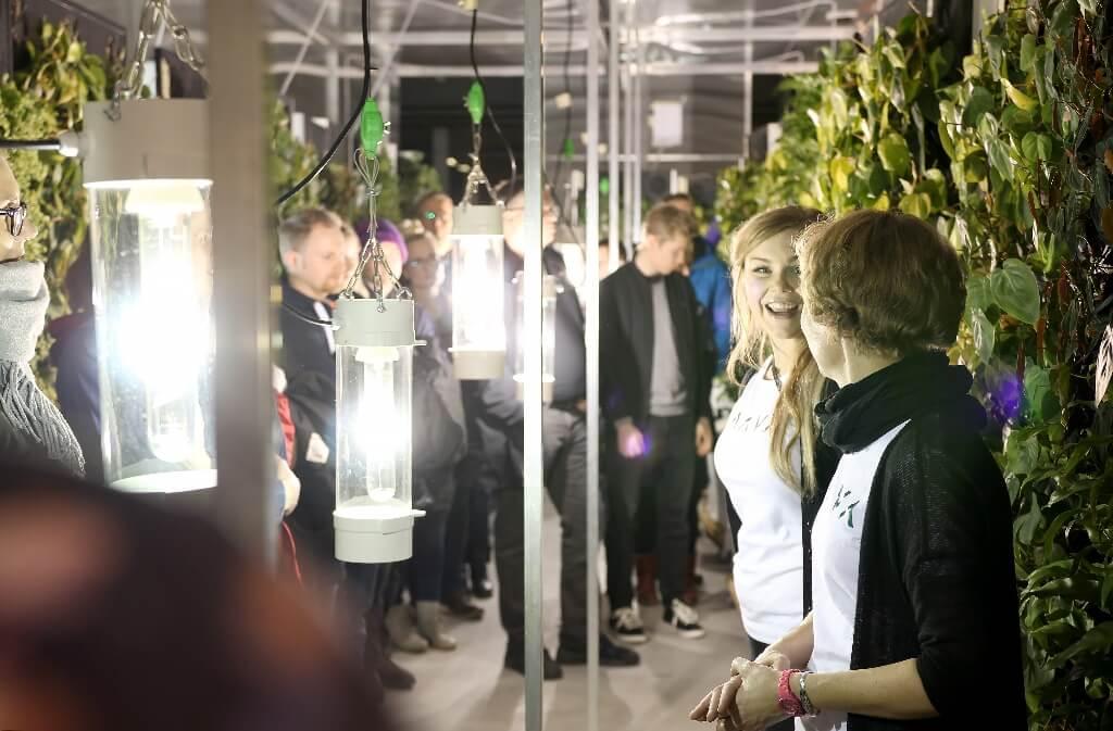 Vieraita kierrätettiin Jyväskylän kasvihuoneella